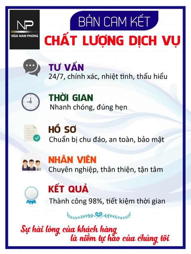 ban cam ket dịch vụ của công ty Nam Phong
